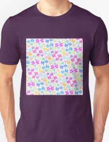 Spring watercolor hand painted bright flowers Unisex T-Shirt