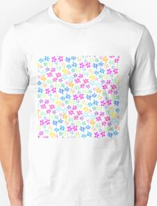 Spring watercolor hand painted bright flowers T-Shirt