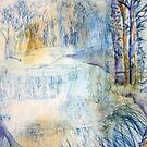 Lyvedn New Bield in Winter by Kay Clark