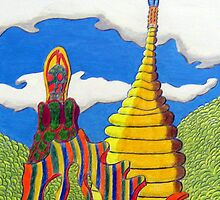 248 - BARCELONA DESIGN #3 - DAVE EDWARDS - ACRYLIC & COLOURED PENCILS - 2009 by BLYTHART