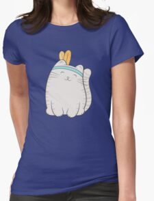 fin, the cat Womens Fitted T-Shirt