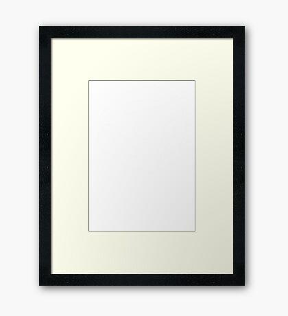 White Symbol Framed Print