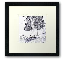 Lonely tree chair Framed Print