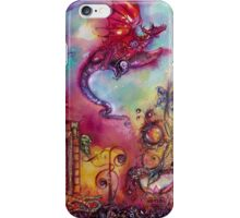 GARDEN OF THE LOST SHADOWS  / FLYING RED DRAGON iPhone Case/Skin