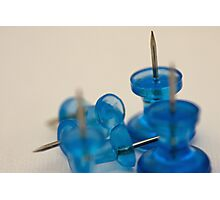 Sharp Blue Photographic Print