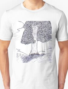 Lonely tree chair Unisex T-Shirt