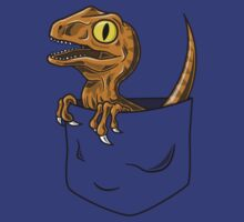 Pocket Raptor T-Shirt by Tabner