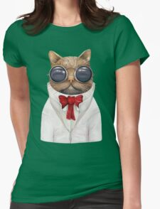 Astro Cat! Womens Fitted T-Shirt