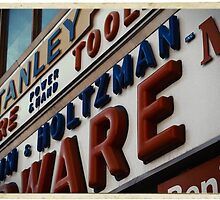 Weinstein & Holtzman Hardware - New York City Store Sign Kodachrome Postcards  by Reinvention