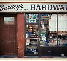 Barney's Hardware - New York City Store Sign Kodachrome Postcards  by Reinvention