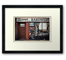 Barney's Hardware - New York City Store Sign Kodachrome Postcards  Framed Print