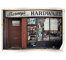Barney's Hardware - New York City Store Sign Kodachrome Postcards  Poster