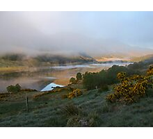 dawn mist rising  Photographic Print