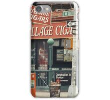 Village Cigars - New York City Store Sign Kodachrome Postcards  iPhone Case/Skin