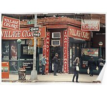 Village Cigars - New York City Store Sign Kodachrome Postcards  Poster