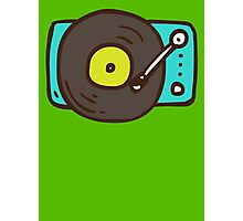 Hand Drawn Vinyl Record Turntable Photographic Print