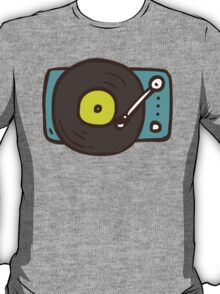 Hand Drawn Vinyl Record Turntable T-Shirt