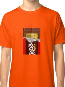 willy wonka chocolate bar cover for imagination Classic T-Shirt