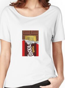 willy wonka chocolate bar cover for imagination Women's Relaxed Fit T-Shirt