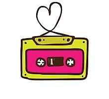 Hand Drawn Audio Tape Cassette Photographic Print
