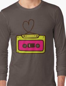 Hand Drawn Audio Tape Cassette Long Sleeve T-Shirt