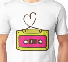 Hand Drawn Audio Tape Cassette Unisex T-Shirt
