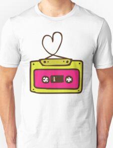 Hand Drawn Audio Tape Cassette T-Shirt