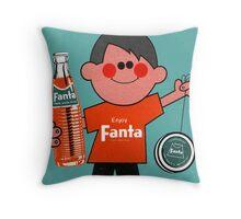 Fanta Boy Card  Throw Pillow