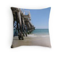 Henley Beach Jetty Throw Pillow