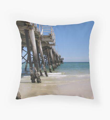 Henley Beach Jetty Throw Pillow