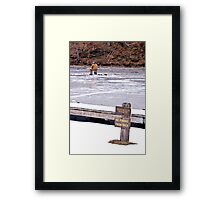 It's Ok To Fish On The Ice Framed Print