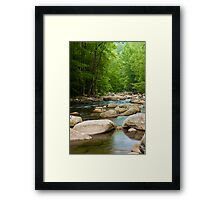 Soothing Rocks and Water Framed Print