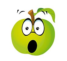 Funny Apple Photographic Print