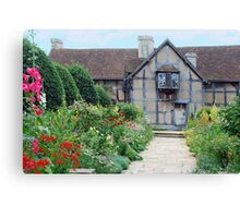 Shakespeare  house Canvas Print