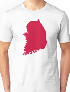 South Korea map Unisex T-Shirt