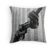 Twisted Gun Non Violence Throw Pillow