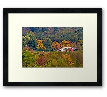 Rural Ohio Farm in Fall Framed Print