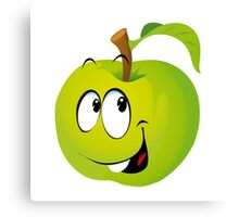 Funny Apple Canvas Print