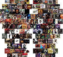 Hip Hop Albums Leggings by AFTRE