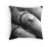 hands crack Throw Pillow