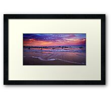End of the surfing day Framed Print