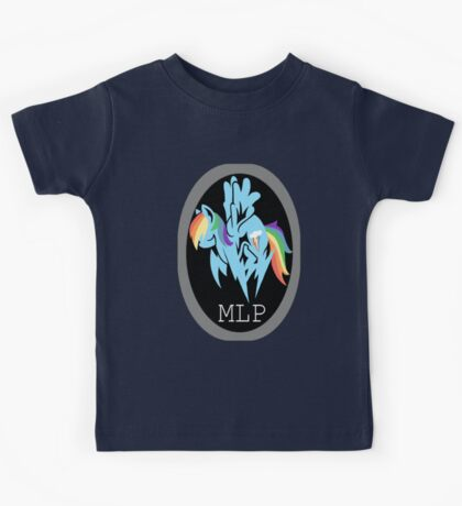 Rainbow Dash/ Shadow Fox: MGS-MLP Crossover Kids Tee