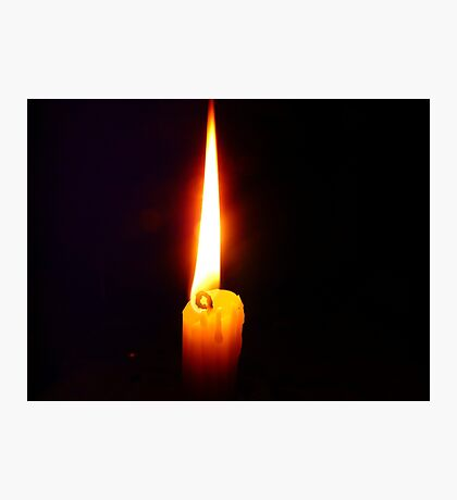 Candle Flame Photographic Print