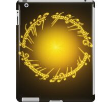 Inscription Of The One Ring iPad Case/Skin