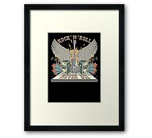 Rock n Roll Will Never Die Framed Print