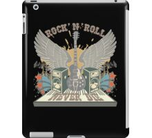 Rock n Roll Will Never Die iPad Case/Skin