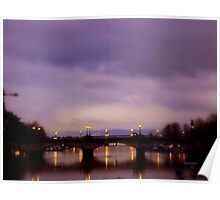 ZURICH - Bridge over Limmat Poster