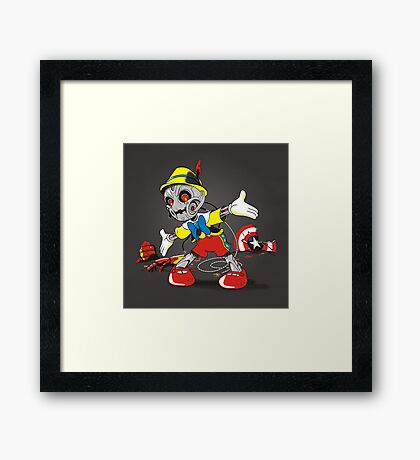 NO STRINGS Framed Print