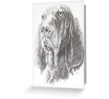 Black & Tan Coonhound Greeting Card
