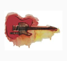 Watercolor guitar Kids Clothes